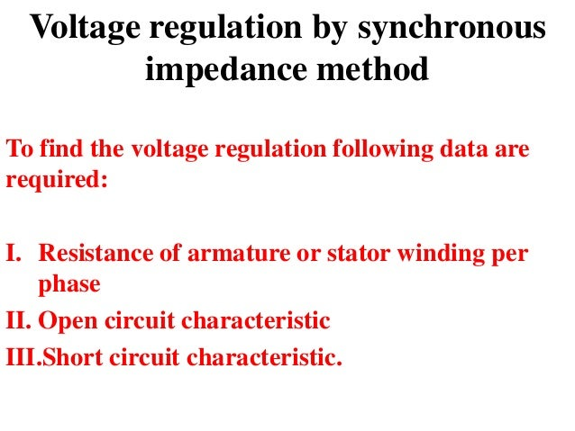 regulation of alternator by synchronous impedance method pdf