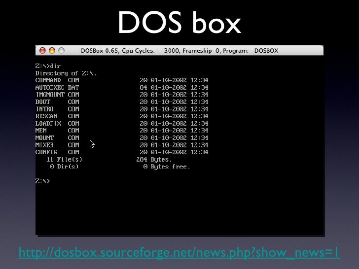 DOS box http://dosbox.sourceforge.net/news.php?show_news=1