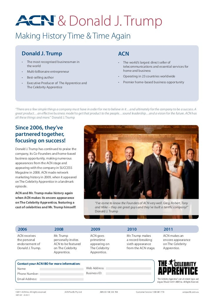 Acn And Donald Trump Flyer