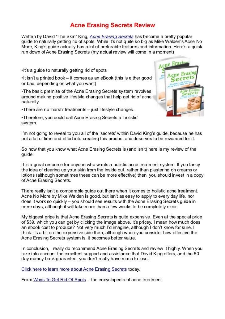 Acne Erasing Secrets Review