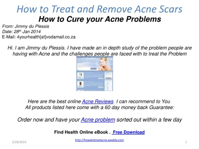 Acne treatment and removal