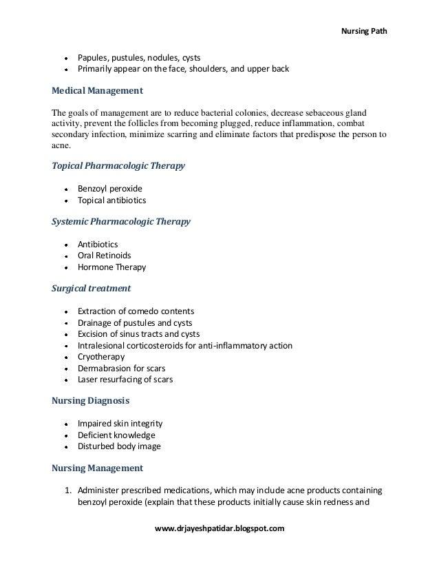 Acne Vulgaris Nursing Care Plan Amp Management