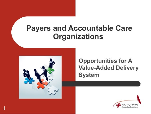Payers and Accountable Care           Organizations                 Opportunities for A                 Value-Added Delive...