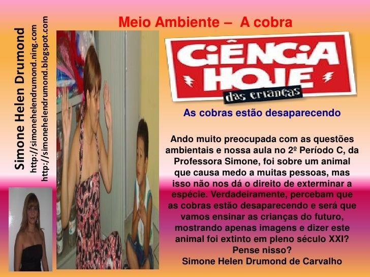 Meio Ambiente – A cobra                        http://simonehelendrumond.blogspot.com                          http://simo...