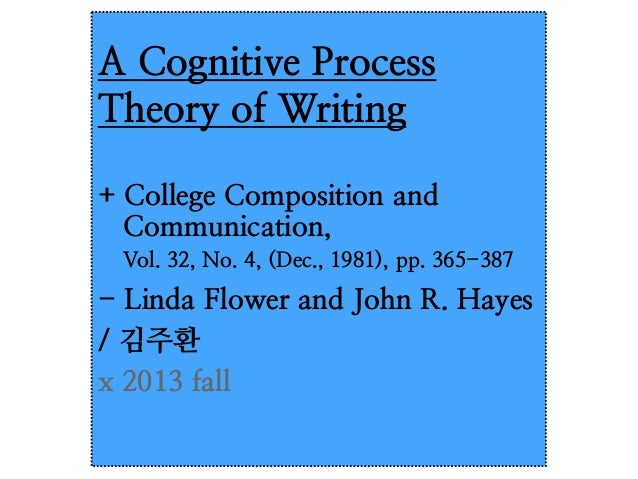 cognitive processes paper essay A 10 page research paper on the process of cognitive a 4 page essay discussing how cognitive they look at cognitive processes and suggest.