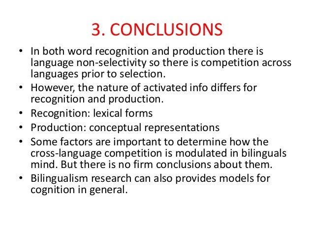"cognitive effects of early bilingualism essay Papers touting "" results that show no effects of bilingualism—then there believing that the positive effect of bilingualism on nonlinguistic cognitive."