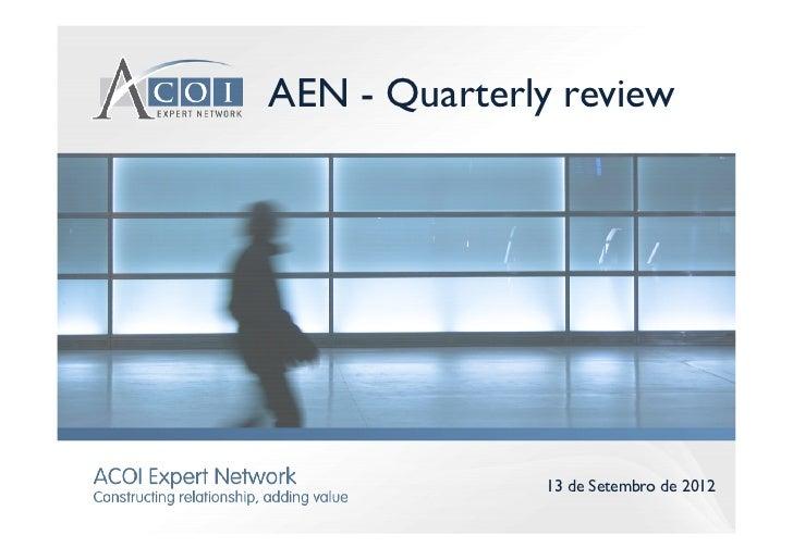 AEN - Quarterly review               13 de Setembro de 2012