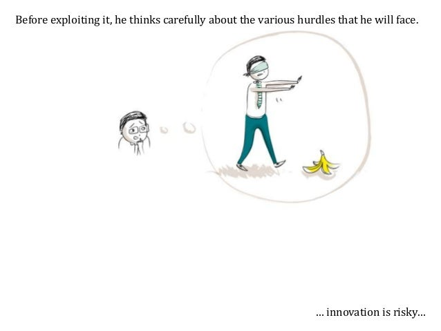 Before exploiting it, he thinks carefully about the various hurdles that he will face. … and innovation is prone to imitat...