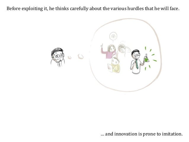 Thinking of all these hurdles, the inventor may decide not to innovate. This innovation may not see the light of day, even...