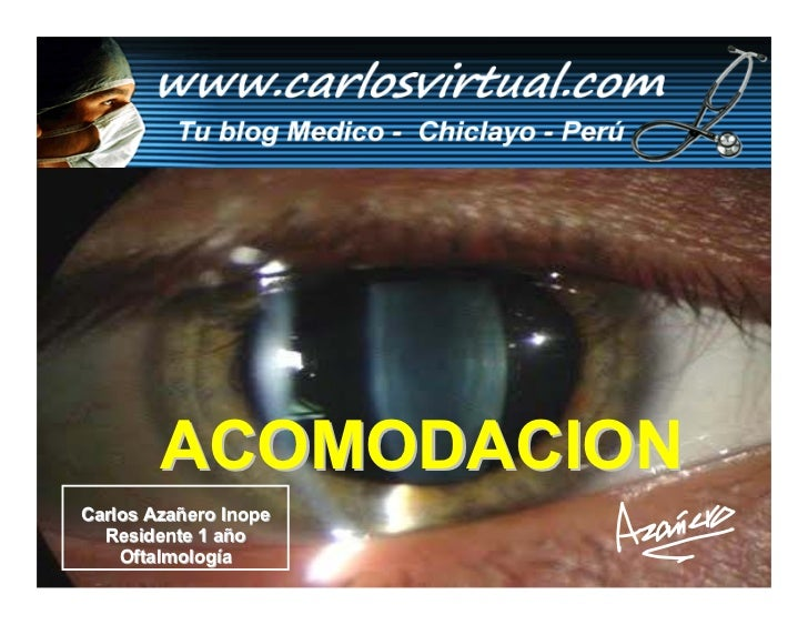 ACOMODACION Carlos Azañero Inope   Residente 1 año     Oftalmología       Dr.Carlos Augusto Azañero Inope                 ...