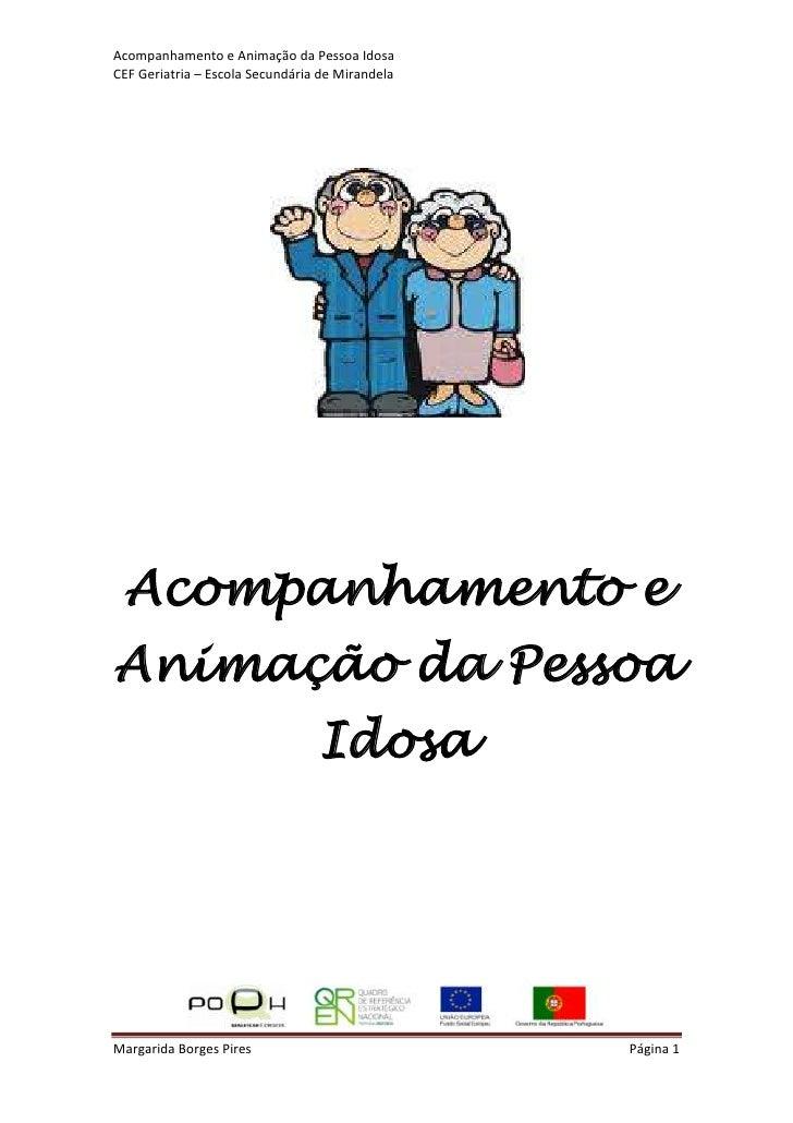 Acompanhamento e Animação da Pessoa IdosaCEF Geriatria – Escola Secundária de Mirandela Acompanhamento eAnimação da Pessoa...