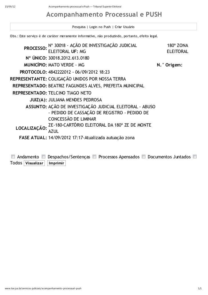 15/09/12                            Acompanhamento processual e Push — Tribunal Superior Eleitoral                        ...