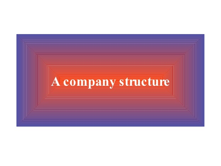 A company structure