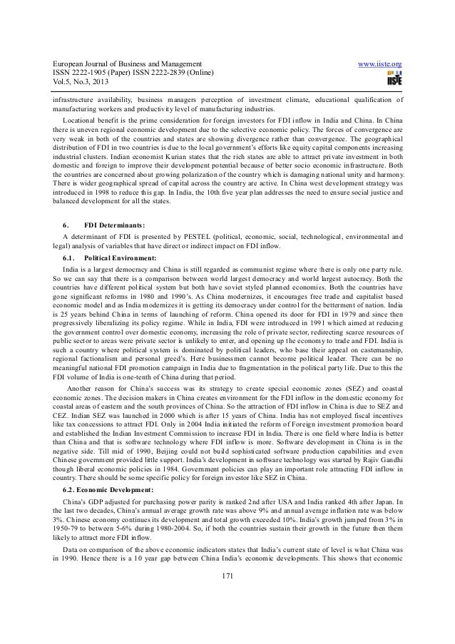 foreign direct investment in china essay