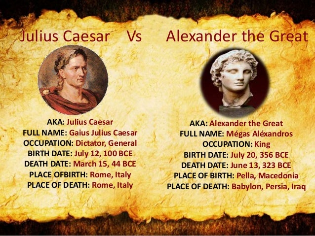 Appian, Caesar and Alexander