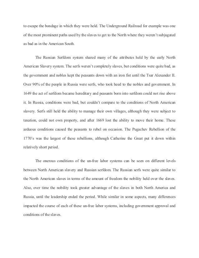 american slavery essay