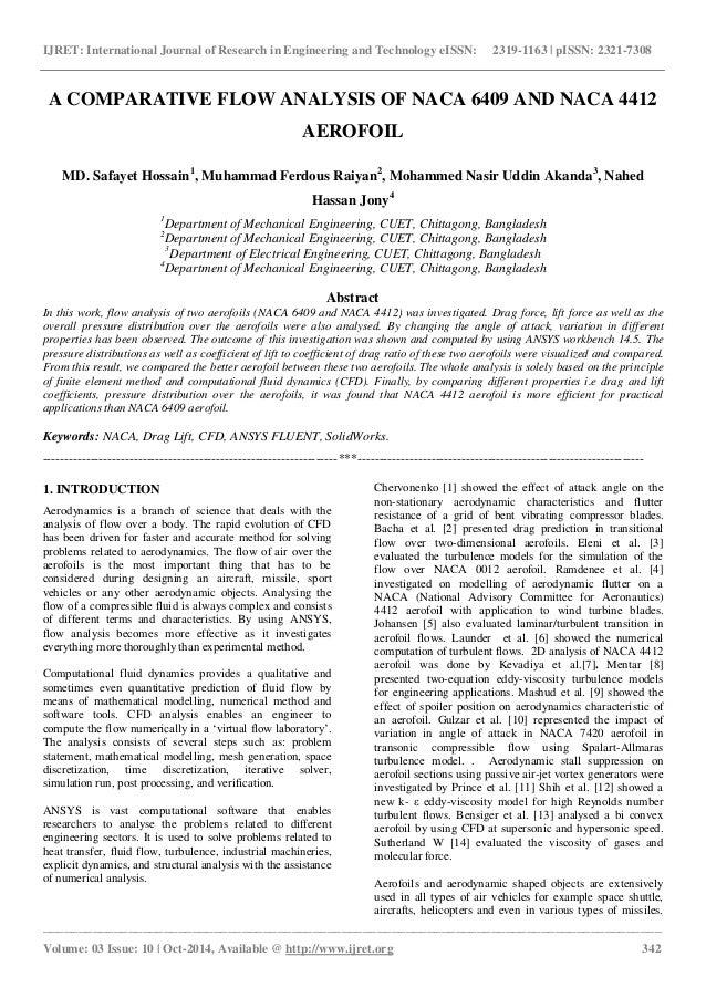 A comparative flow analysis of naca 6409 and naca 4412