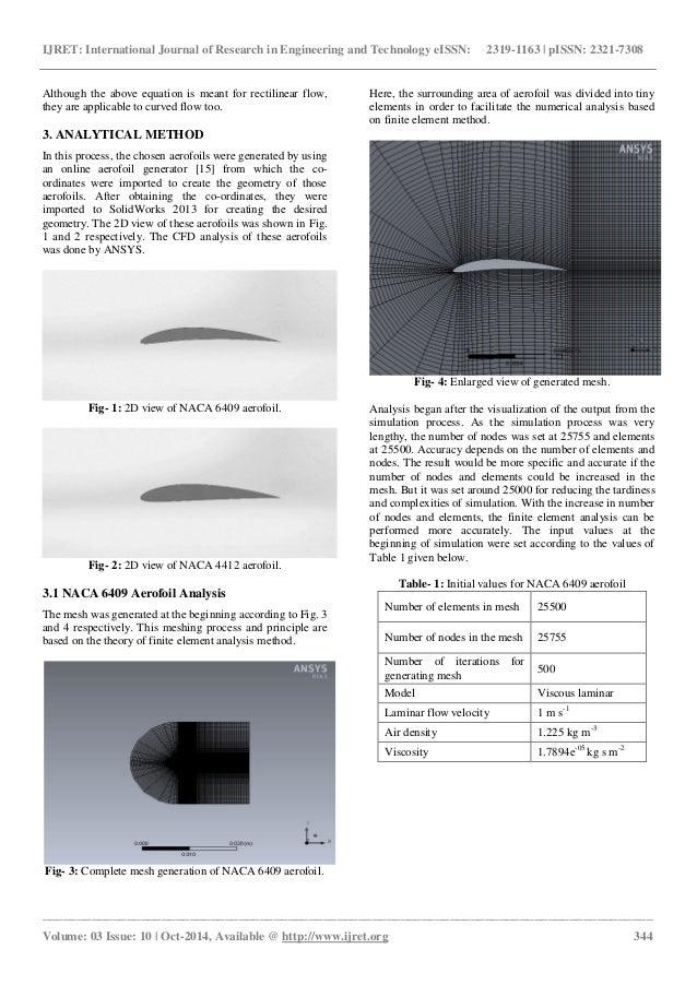 A comparative flow analysis of naca 6409 and naca 4412 aerofoil Slide 3