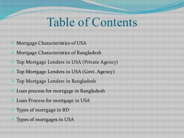 a comparative study of mortgage market in both usa  u0026 bangladesh