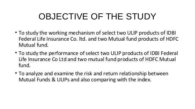 a comparative study of hdfc mutual fund and ulip product While a few experts are sceptical about selling complex products online,  ulips vs mutual funds:  why buy an online ulip.
