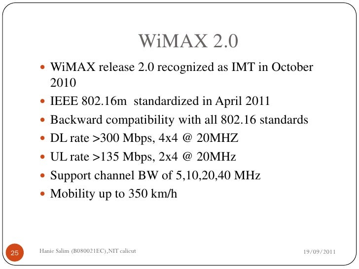 A comparative study of wimax and lte - SlideShare