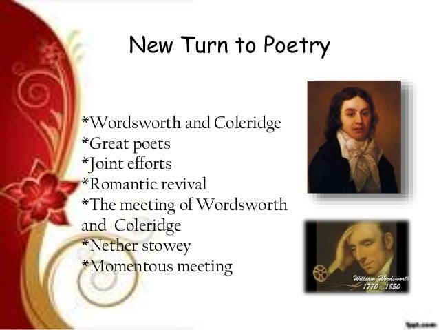 coleridge as romantic poet