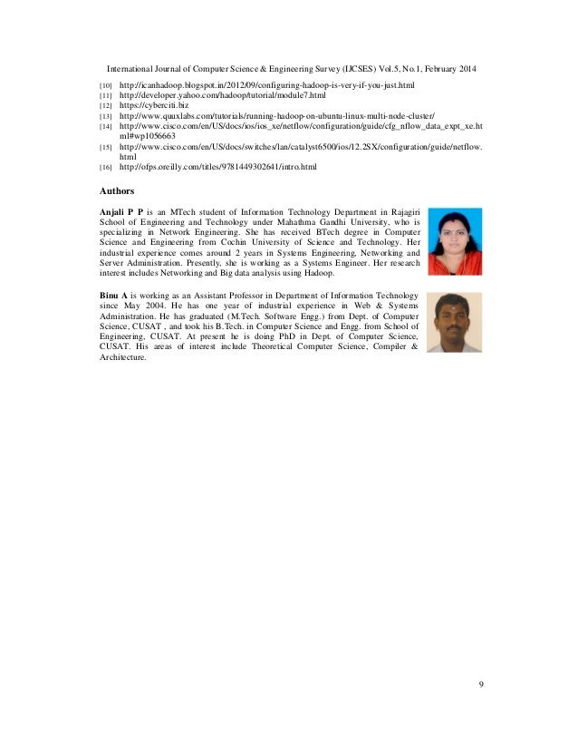 International Journal of Computer Science & Engineering Survey (IJCSES) Vol.5, No.1, February 2014 9 [10] http://icanhadoo...