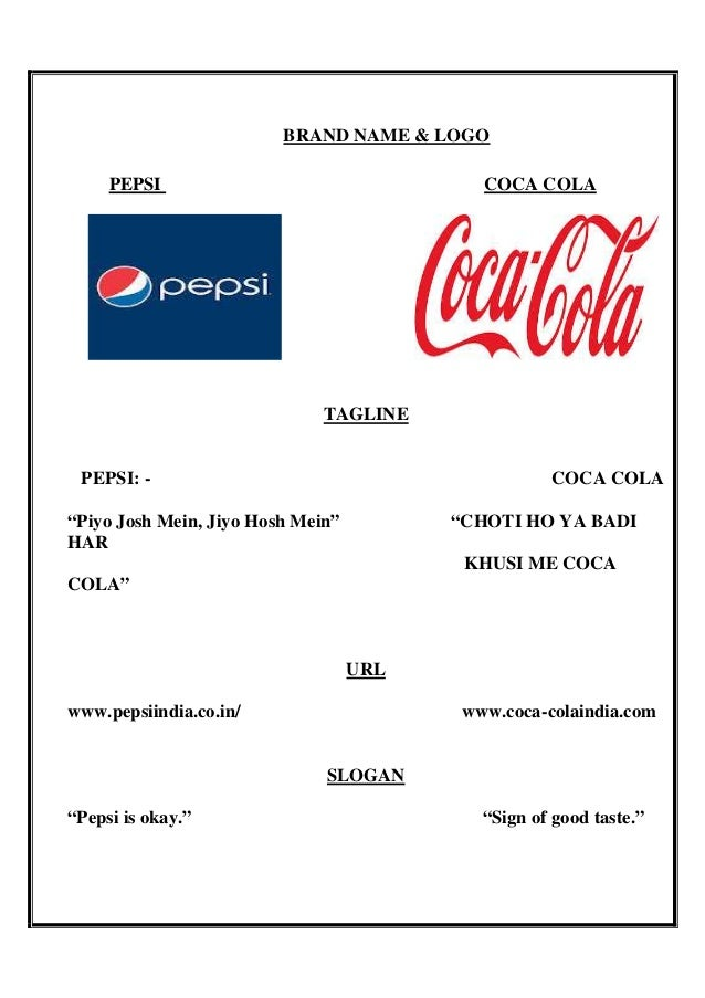 pepsi co and coca cola co Coca-cola and pepsi have been battling each other for more than a century it's a legendary brand rivalry the fight has often gotten personal.