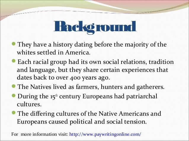 Native american and european relationships dating