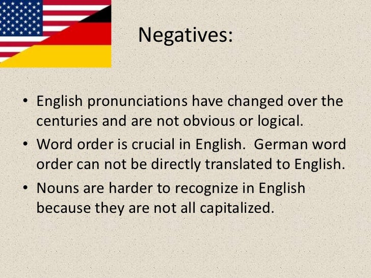 a comparison of german and english