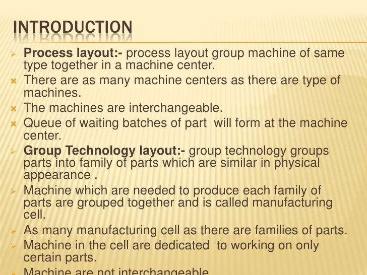 Category Technologies: A Comparison Of Group Technology & Process Layout (3