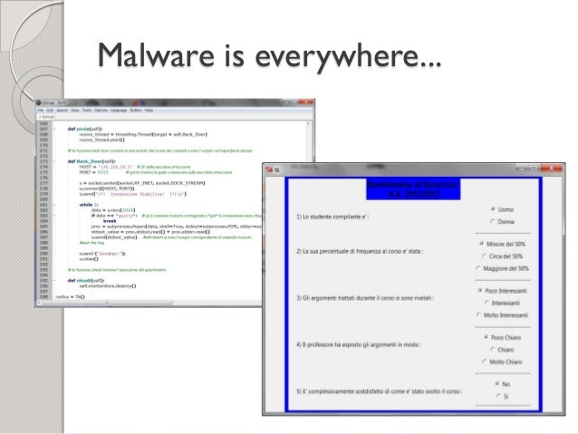 A comparison of tools for malware analysis