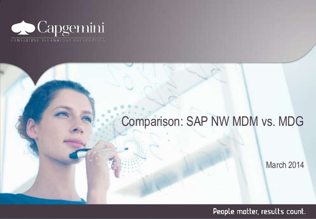 Comparison: SAP NW MDM vs. MDG March 2014