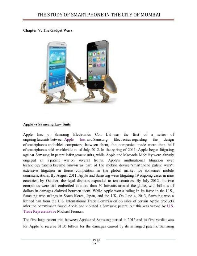 competition between apple and samsung