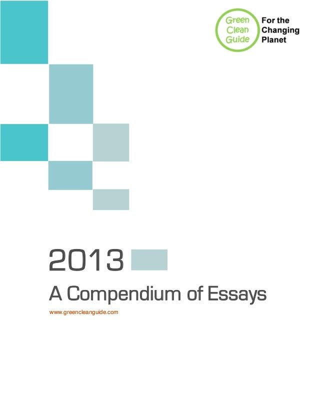 compendium of essays A compendium of essays - a compendium of essays is a unique collection presenting new and intriguing philosophical analysis on several renowned composers and their work from the baroque.