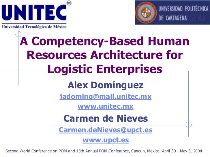 A Competency-Based Human         Resources Architecture for            Logistic Enterprises                               ...