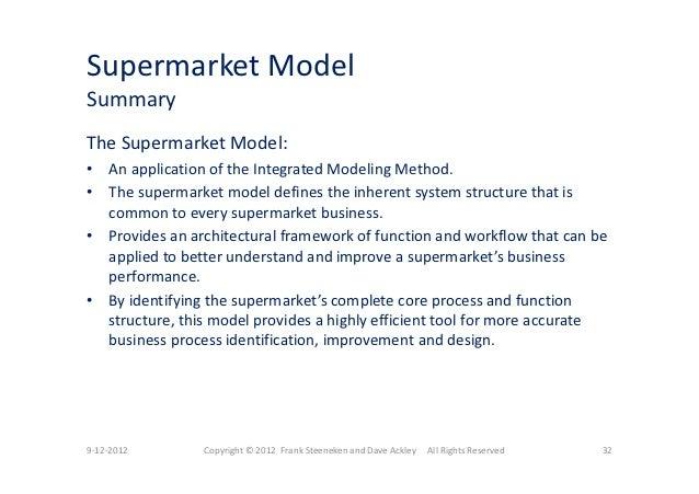 A Complete Model Of The Supermarket Business - Presentation