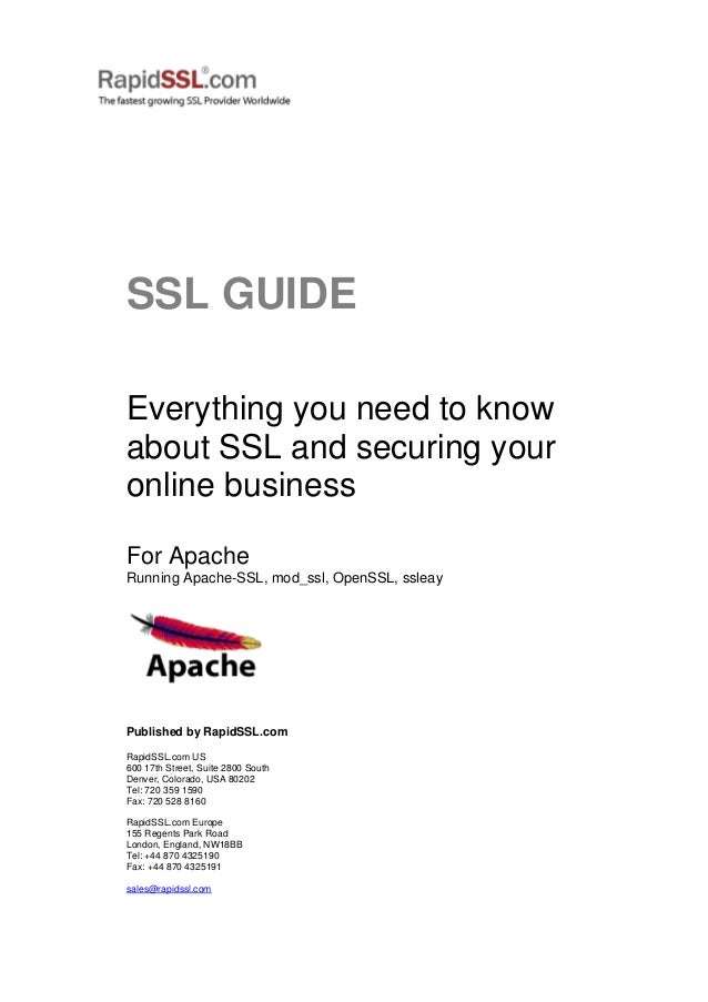 A Complete Rapidssl Guide On Securing Online Business With Ssl Certif