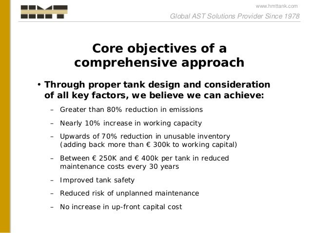 A comprehensive approach to tank design and tank equipment selection Slide 2
