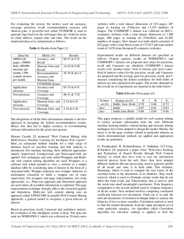 Web mining research papers 2011