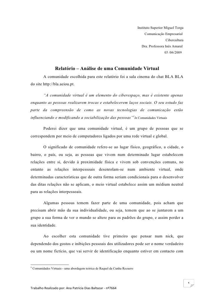 Instituto Superior Miguel Torga                                                                                   Comunica...