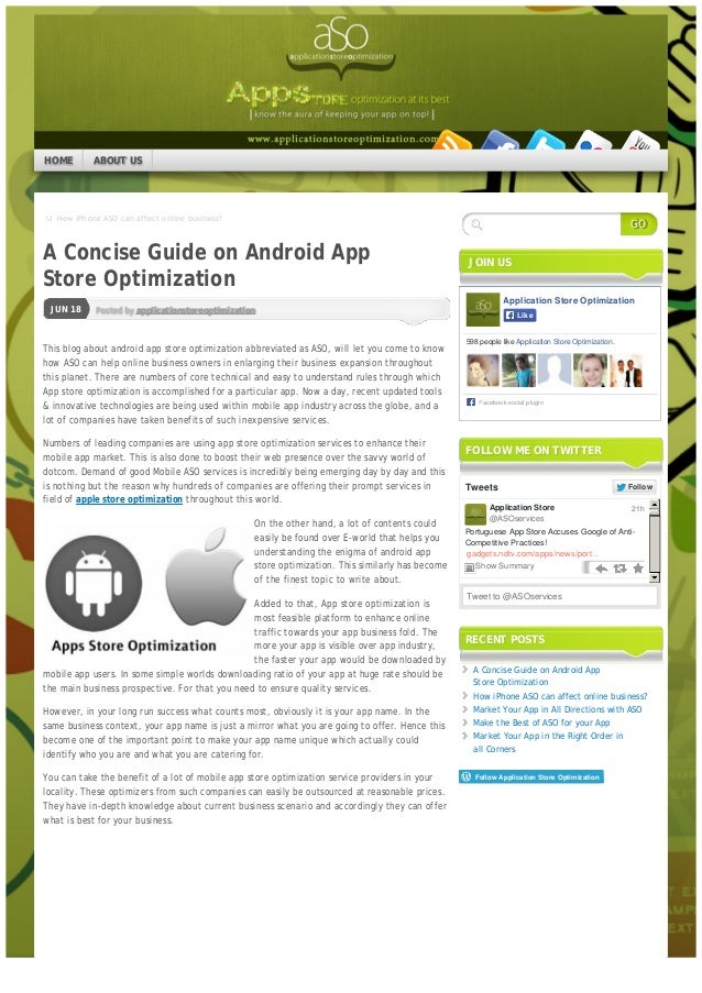 IJ How iPhone ASO can affect online business? Posted by applicationstoreoptimizationJUN 18 A Concise Guide on Android App S...
