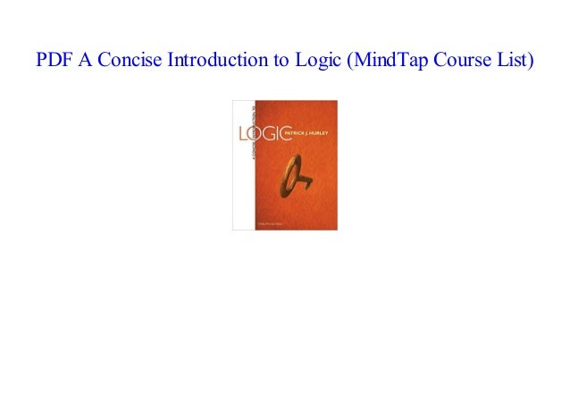 Books A Concise Introduction To Logic Mindtap Course List By Read