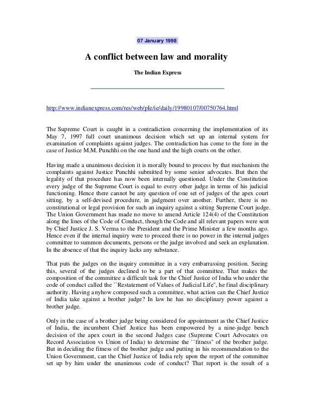 07 January 1998               A conflict between law and morality                                    The Indian Expresshtt...
