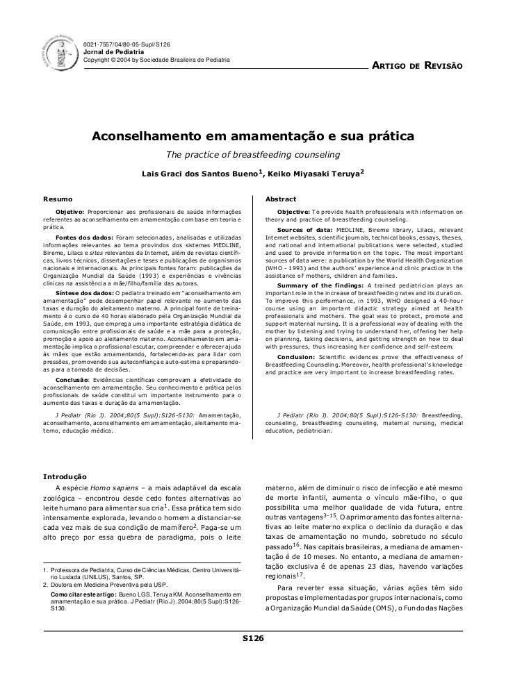 0021-7557/04/80-05-Supl/S126              Jornal de Pediatria              Copyright © 2004 by Sociedade Brasileira de Ped...