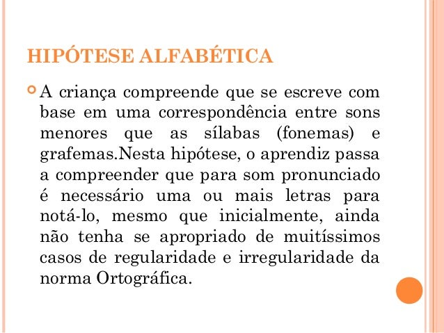 """BIBLIOGRAFIA Ferreiro, Emilia .""""Reflexões sobre a Alfabetização"""" .São Paulo: Cortez, 1981. Ferreiro, Emilia & Teberosky, A..."""