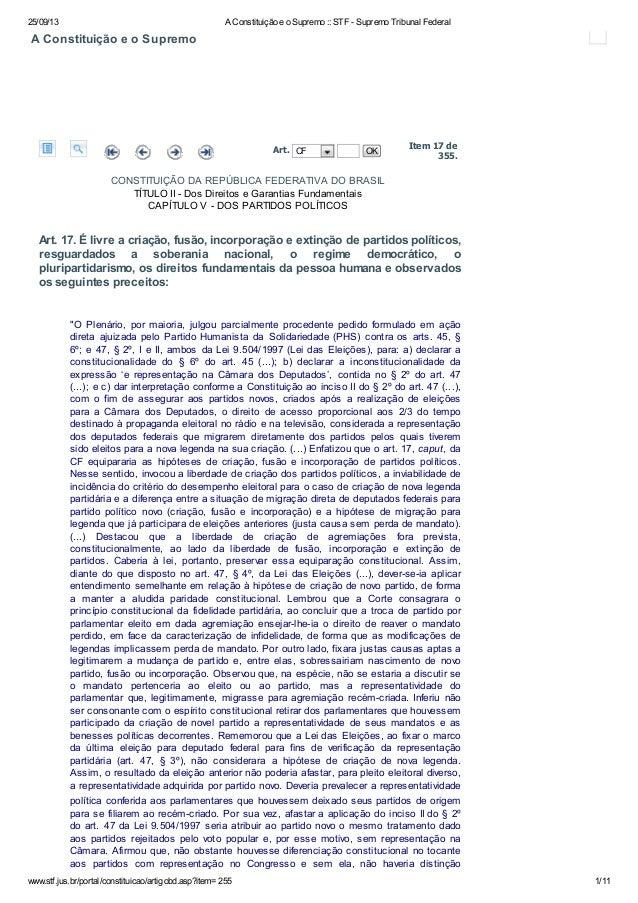25/09/13 A Constituição e o Supremo :: STF - Supremo Tribunal Federal www.stf.jus.br/portal/constituicao/artigobd.asp?item...