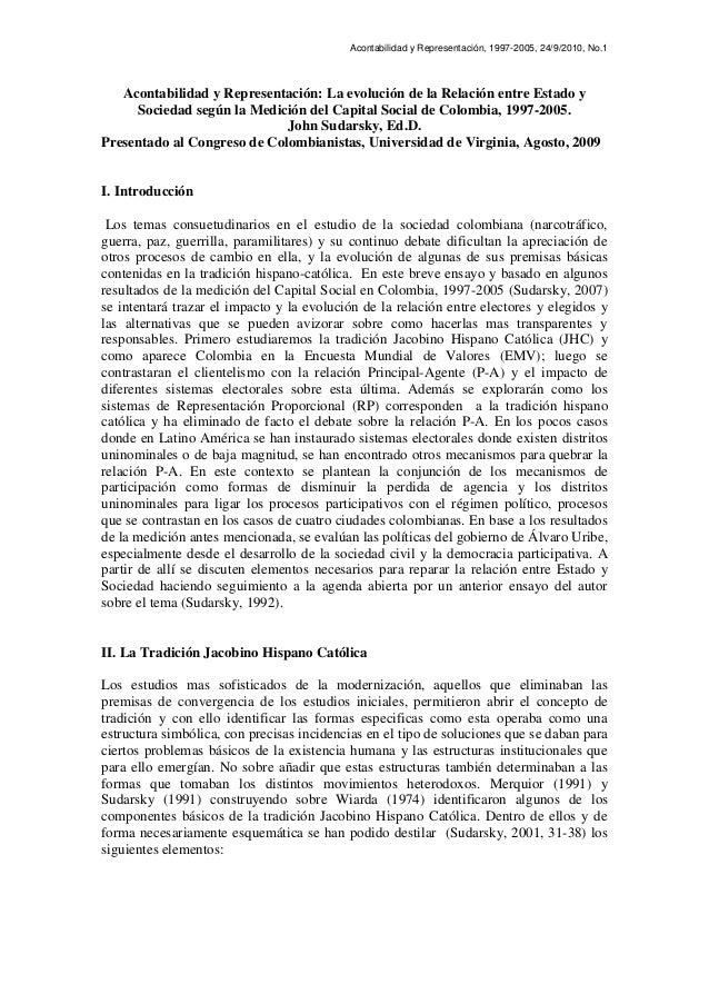 Acontabilidad y Representación, 1997-2005, 24/9/2010, No.1 Acontabilidad y Representación: La evolución de la Relación ent...
