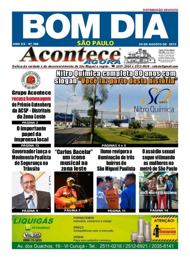 SÃO PAULO ® Defesa da verdade e do desenvolvimento de São Miguel e região -  2031-2364 e 2513-0928 - raleste@gmail.com AN...