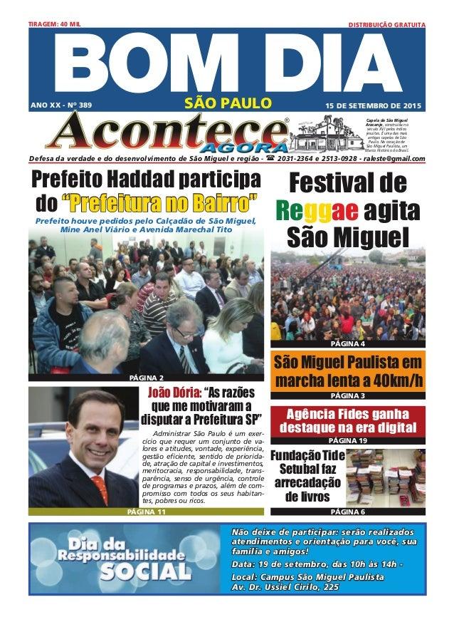 FundaçãoTide Setubal faz arrecadação de livros SÃO PAULO ® Defesa da verdade e do desenvolvimento de São Miguel e região -...